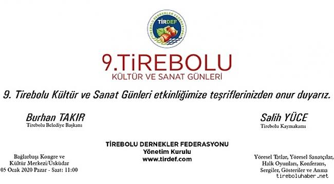 9.Tirebolu Kültür ve Sanat Günleri 5 Ocakta