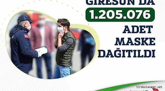 Giresun'da 1 Milyon 200 Bin ücretsiz maske dağıtıldı