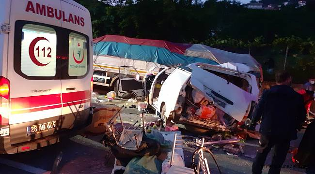 Tirebolu'da trafik kazası: 1 ölü, 2 yaralı