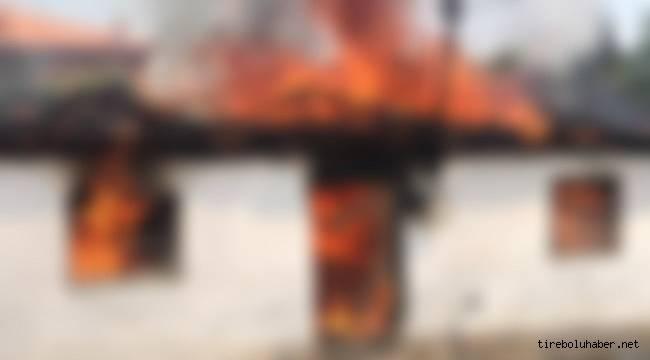 Giresun'da ev yangını : 2 Yaralı