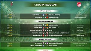 TFF 1.lig 12. Hafta programı