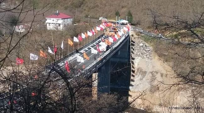 Tirebolu - Doğankent yolu üzerinde yapılan köprü hizmete açılıyor