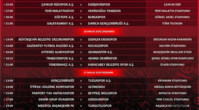 Ziraat Türkiye Kupası 5. Eleme Turu programı açıklandı