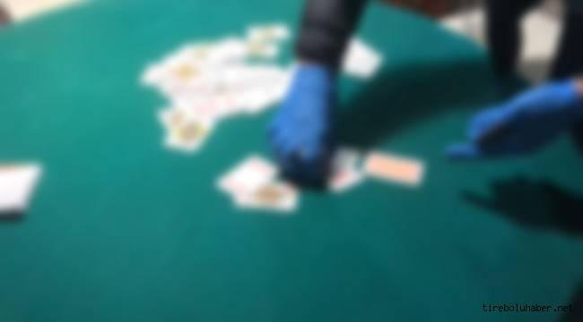 Tirebolu'da kumar oynayan 17 kişiye ceza yazıldı